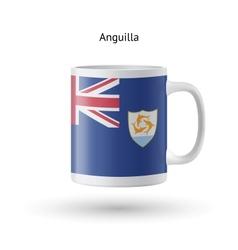 Anguilla flag souvenir mug on white background vector image