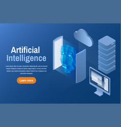 Artificial intelligence isometric vector
