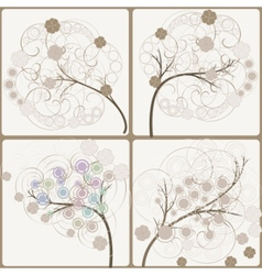 artistic trees vector image