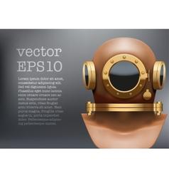 Background of Underwater diving suit helmet vector image