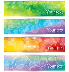 Banners with light bokeh vector