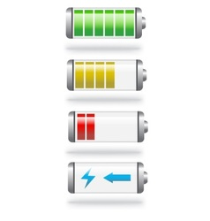 battery level and charge vector image