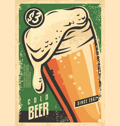 beer poster wall decor for irish pub vector image
