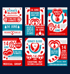 blood donation banner for world donor day design vector image
