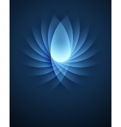 Blue Smooth Lines background vector image