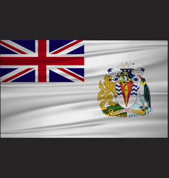 British antarctic territory flag british vector