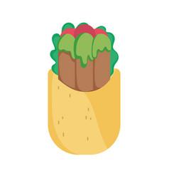 Burrito fresh food tradition mexico icon vector