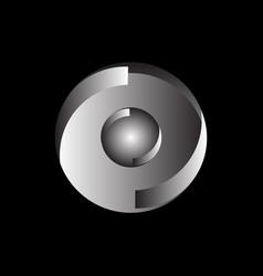 button tech logo vector image