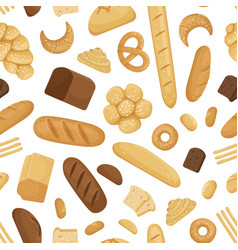 cartoon bakery elements pattern or vector image