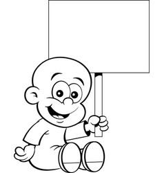 Cartoon of a smiling baby ho vector