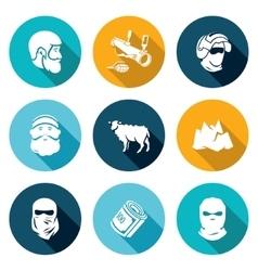 Caucasus Icons Set vector