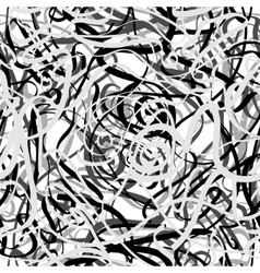 Chaotic grey lines vector image