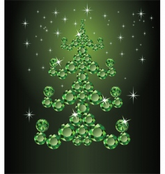 Christmas emerald tree vector image