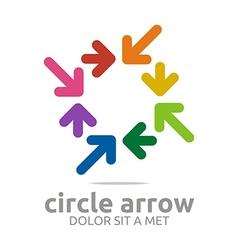 circle arrow colorful design symbol icon vector image