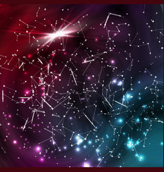 cosmic constellations background abstract vector image