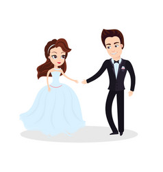 couple in love dancing on ceremony partying vector image