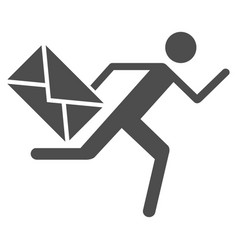 Courier icon vector