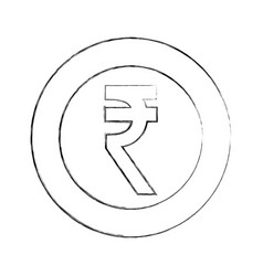 currency coin indian rupee money vector image