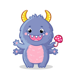cute monster in cartoon style vector image