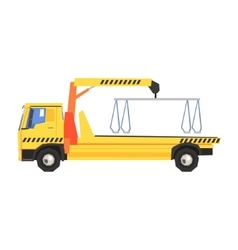 Empty Yellow Big Evacuation Truck vector image
