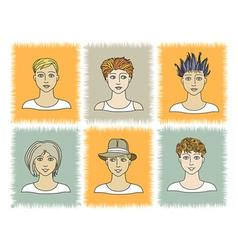 Faces BOYS 1-2 vector