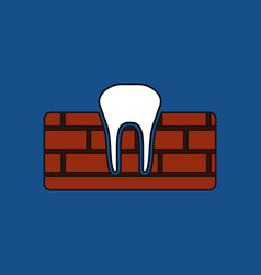 Flat icon design collection tooth and gum vector