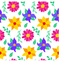 floral mexican seamless pattern vector image