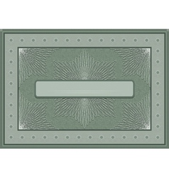Frame with an openwork pattern vector