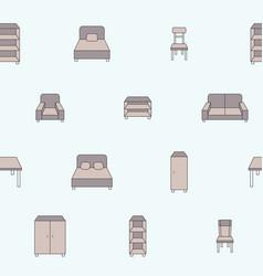 furniture background 04 vector image