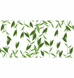Green weeds pattern vector