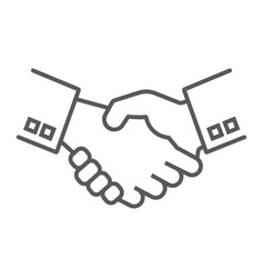 handshake thin line icon finance and banking vector image