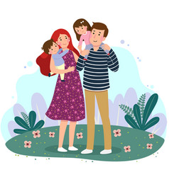 happy family having fun together in park vector image
