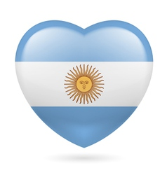 Heart icon of Argentina vector image