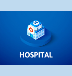hospital isometric icon isolated on color vector image