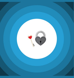 Isolated lock flat icon key element can be vector