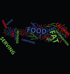 Know thy food label text background word cloud vector
