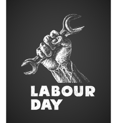 Labor day poster vector image