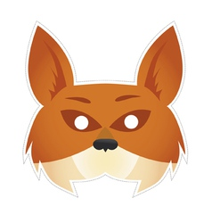 Mask fox vector image