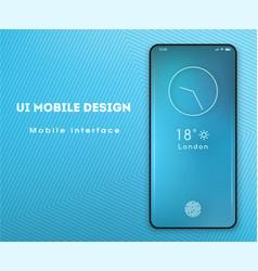 mobile application interface design screensaver vector image