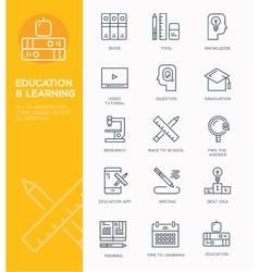 modern line icon design concept education vector image