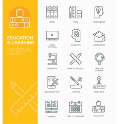 Modern Line icon design Concept of Education vector
