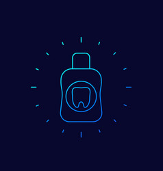 mouthwash mouth rinse icon linear vector image
