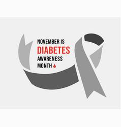 november diabetes awareness month vector image