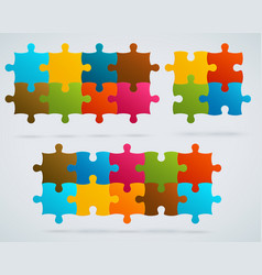 parts colorful puzzles vector image