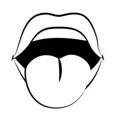 pop art comic lips cartoon vector image