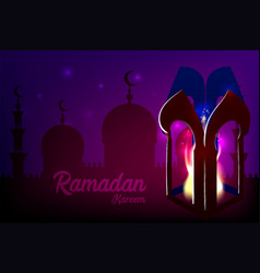 Ramadan kareem islamic greeting card vector