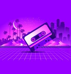 retro style pop disco vector image