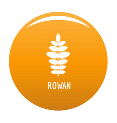 rowan leaf icon orange vector image