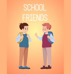 school friends poster template classmates vector image