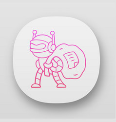 Scraper bot app icon malicious bad robot content vector